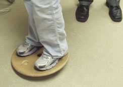 balancing board exercise